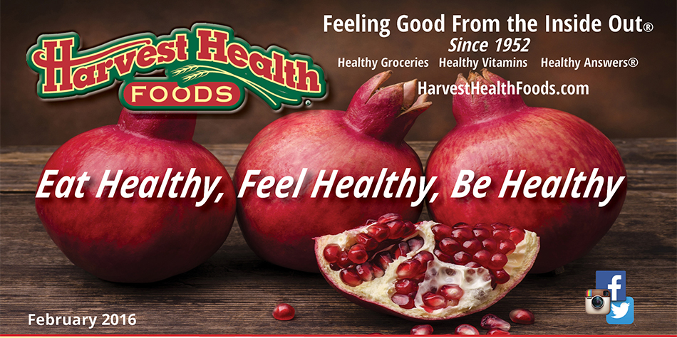 Harvest Health Foods February Sale Flyer and Web Features
